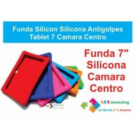 Funda Silicon Silicona Antigolpes Tablet 7 Camara Centro