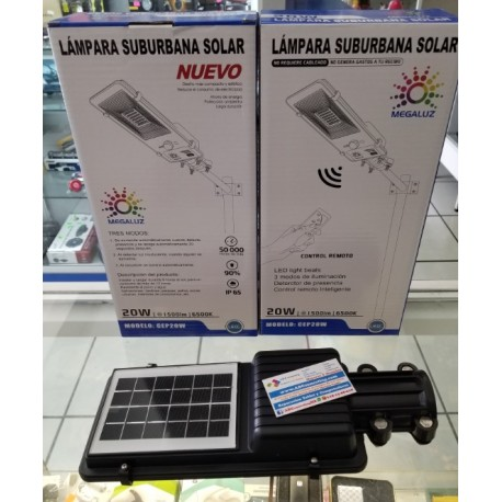 Luminaria LED solar 20w
