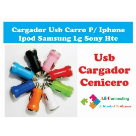 Cargador De Carro Usb Para Iphone Ipad Motorola Samsung
