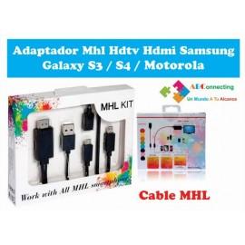 Adaptador Mhl Hdtv Hdmi Samsung Galaxy S3 / S4 / Motorola