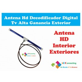 Antena Hd Decodificador Digital Tv Alta Ganancia Exterior