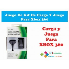 Juego De Kit De Carga Y Juega Para Xbox 360