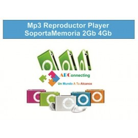 Mp3 Reproductor Player Soporta Memorias 2Gb 4Gb
