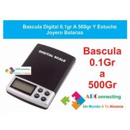 Bascula Digital 0.1gr A 500gr Y Estuche Joyero Balanza