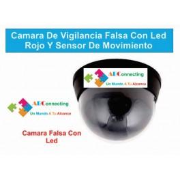Camara De Vigilancia Falsa Con Led Rojo Y Sensor De Movimiento