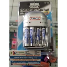 Cargador + 2 Baterias AA + 2 Baterias AAA