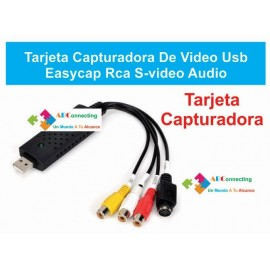 Capturadora De Video USB EasyCap RCA DVD VHS y Mas