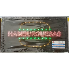 Anuncio Luminoso Led HAMBURGUESA