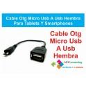 Cable Micro Usb Hembra Otg V8