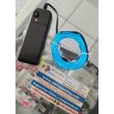 Luz neón portátil,  a base batería AA (Bateria No incluida)
